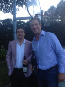 Greg Harrington of Gramercy Cellars with Drew Bledsoe from Doubleback.