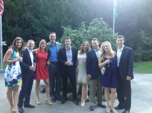 Pam Harrington, Chris Figgins, Maura and Drew Bledsoe, Greg Harrington, Kris Middleton, Tony Lupino, Christina and Bob Watt.