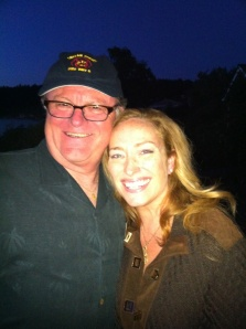 My wife, Christina, with good friend Bill Schallert from Youngs Market Co.