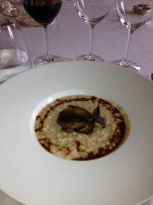 Aromatic mushroom risotto.  We didn't help make this - it was a nice surprise!