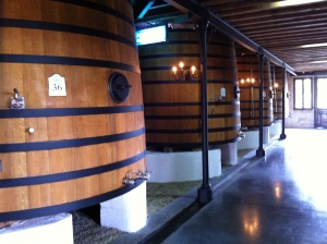 The wooden vat room felt very rustic.