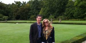 Christina and Bob in the gardens of Chateau Leoville Barton.