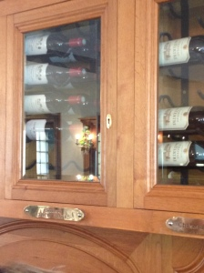The Lynch Bages wine locker at Le Lion d'Or.