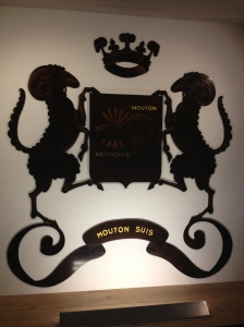 "The Mouton ""Ram"" crest."