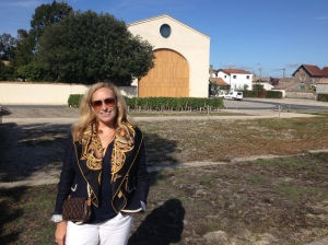 Christina at Mouton Rothschild.