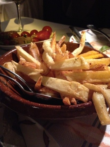 The famous duck fat frites.  Greg and Eric, this is for you!
