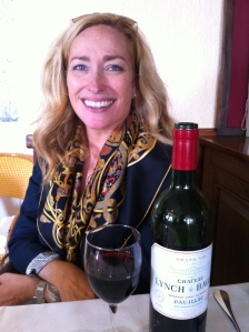 Christina with the 2001 Chateau Lynch Bages.