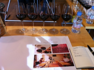 The four varietals - and the finished product!