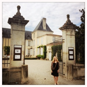 Christina Watt at the beautiful Chateau Suduiraut.