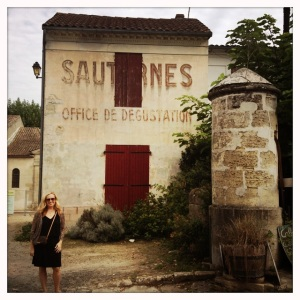 Christina Watt in the town of Sauternes.