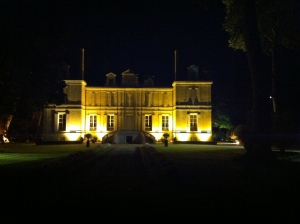 Pichon Lalande at night.