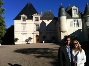 Bob and Christina Watt at Chateau Haut Brion.