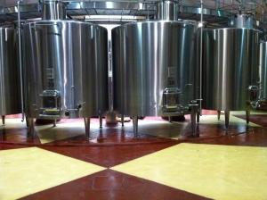The vat room.