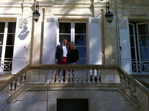 Nicolas Glumineau and Christina Watt at Chateau Pichon Lalande.