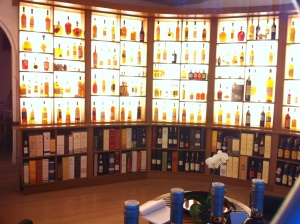 A cognac shop in Bordeaux.