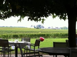 A partial patio view of the restaurant, Les Sapien.