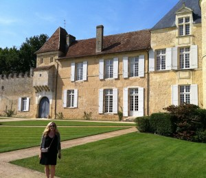 Christina Watt at Chateau d'Yquem.  Pilgramage complete.
