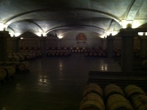 The cellars - dark, but an impressive sight.