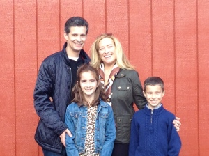 Bob, Christina, Bobby and Sophia Watt at the Remy Winery in Oregon.