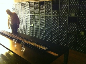 A very well stocked cellar with some great vintages on display.