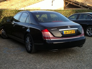 A nice Maybach.  Wish the photo showed you the interior - believe me, it wouldn't suck to tour in this ride.