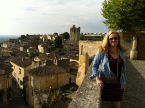 Christina in St. Emilion.