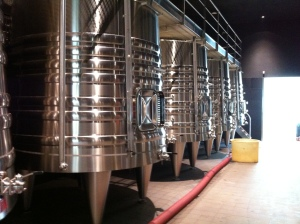 The waiting vats.