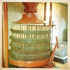Some wineries keep some of the older, still working technology around - just in case.