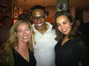 Christina Watt with Donovan Singletary (a Bass-Barintone playing Monterone), and Nadine Sierra (singing Gilda, the lead Soprano role).