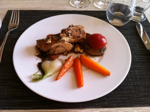 The chicken was deceptively simple and delicious.