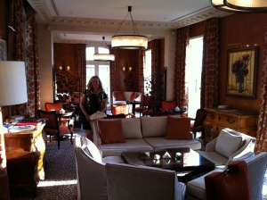 Christina in the beautiful lounge.
