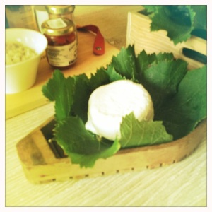 Delicious farm-fresh goat cheese.
