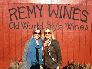 Christina and her sister-in-law Kerry Prather at Remy Winery on a beautiful - and windy - fall day.