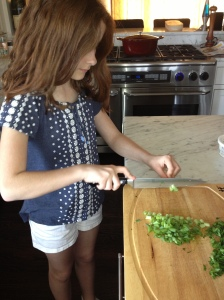 Sophia - ready to hone her cooking skills in Italy!